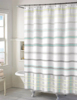Style Lounge Baltic Striped Print Shower Curtain Stage Stores