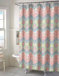 Style Lounge Coral Bath Accessory Sets Shower Curtains & Hooks