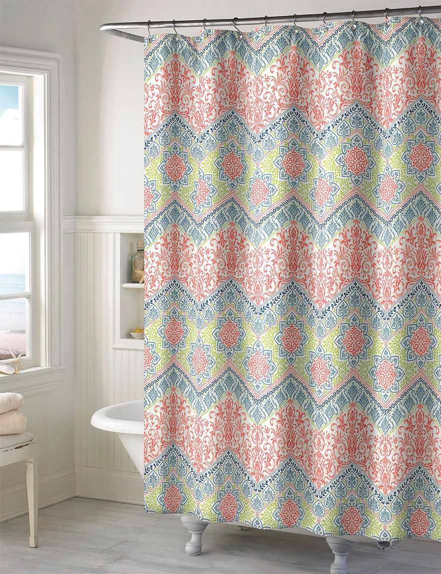 Style Lounge Multicolor Chevron Print Shower Curtain | Stage Stores
