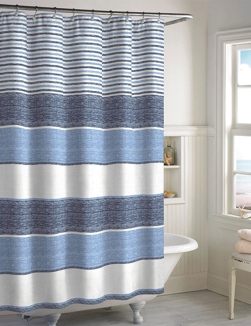 Destinations Blue Bath Accessory Sets Shower Curtains & Hooks