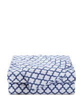 Great Hotels Collection Navy & White Trellis Print Sheets