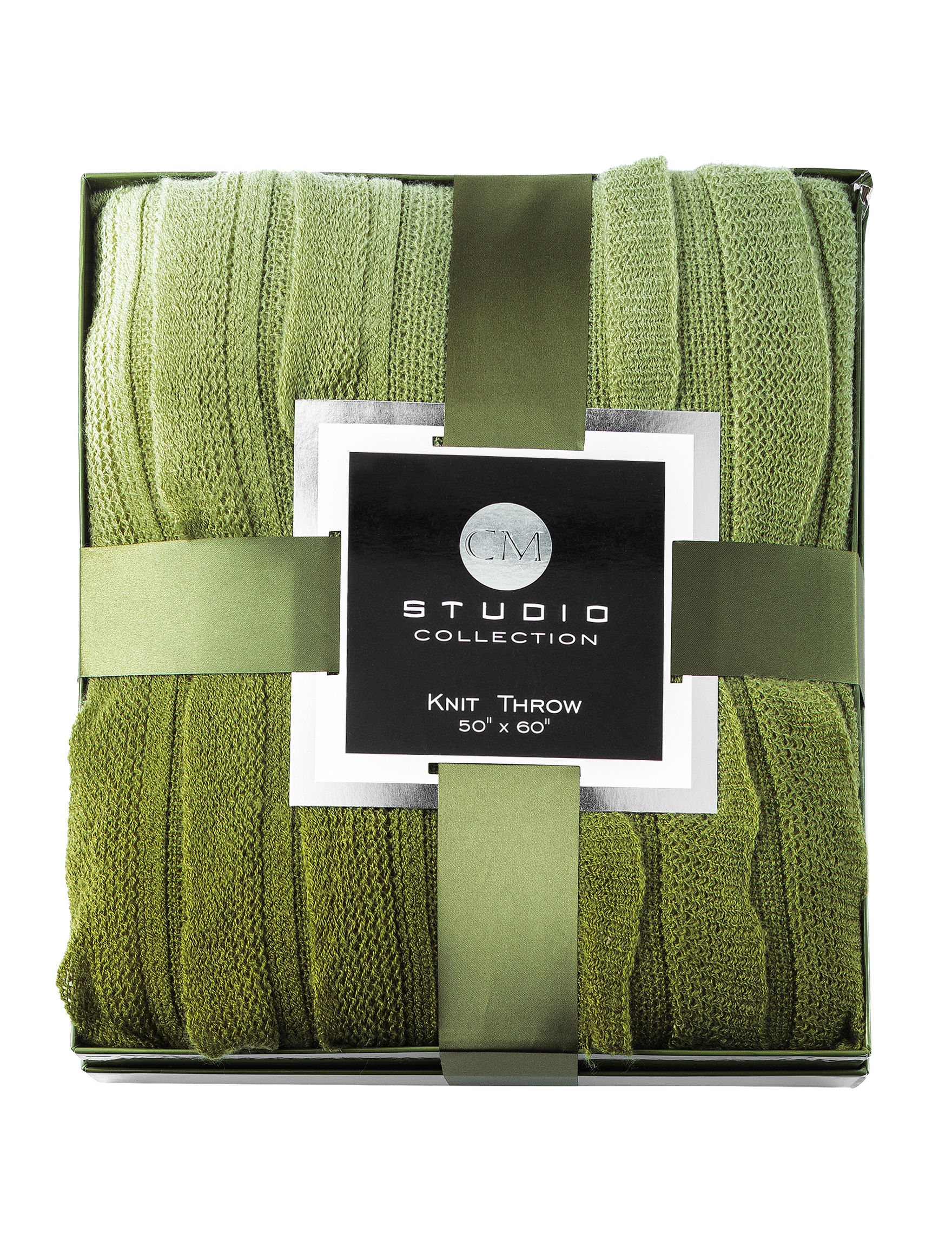 CM Studio Collection Green Blankets & Throws