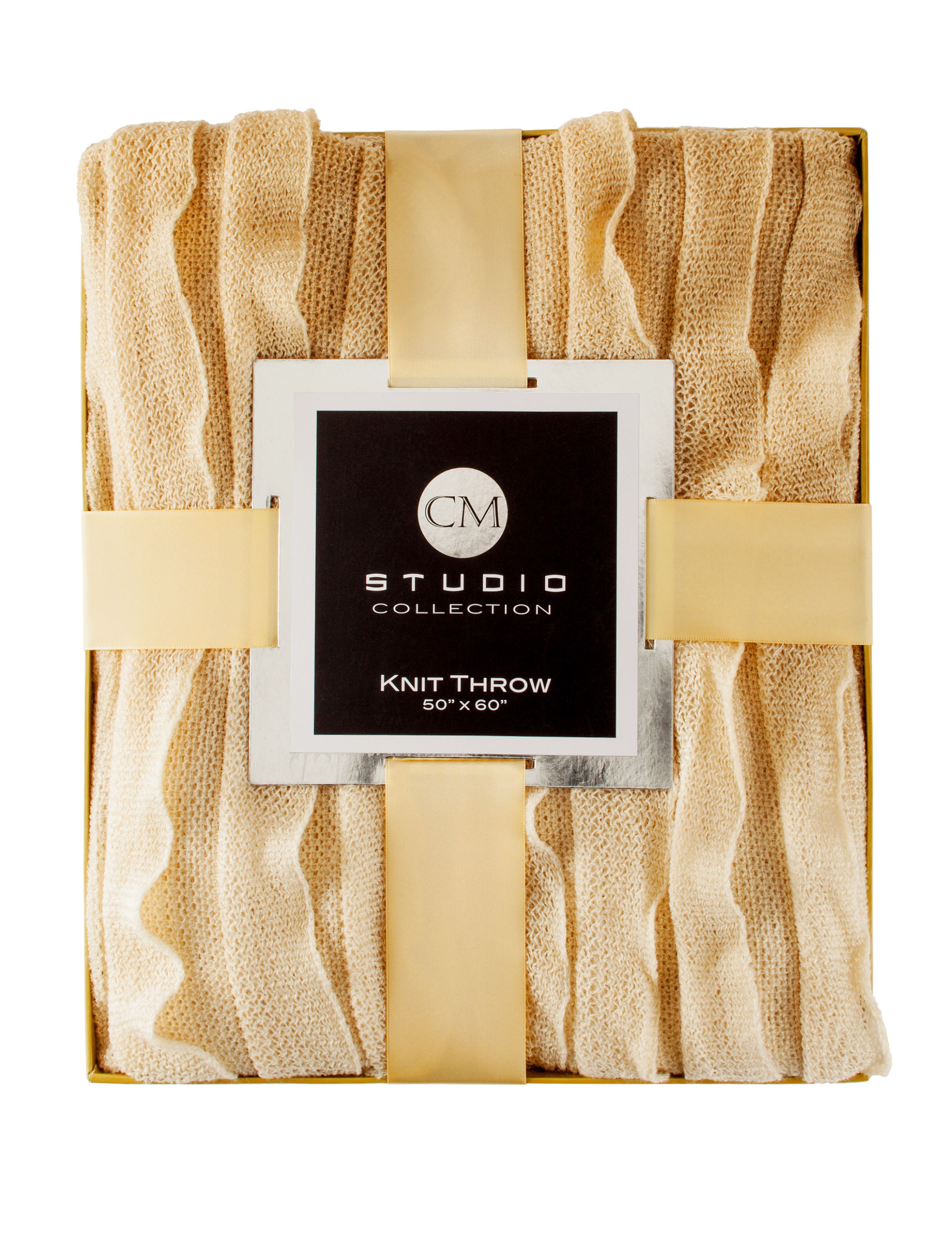 CM Studio Collection Oatmeal Blankets & Throws