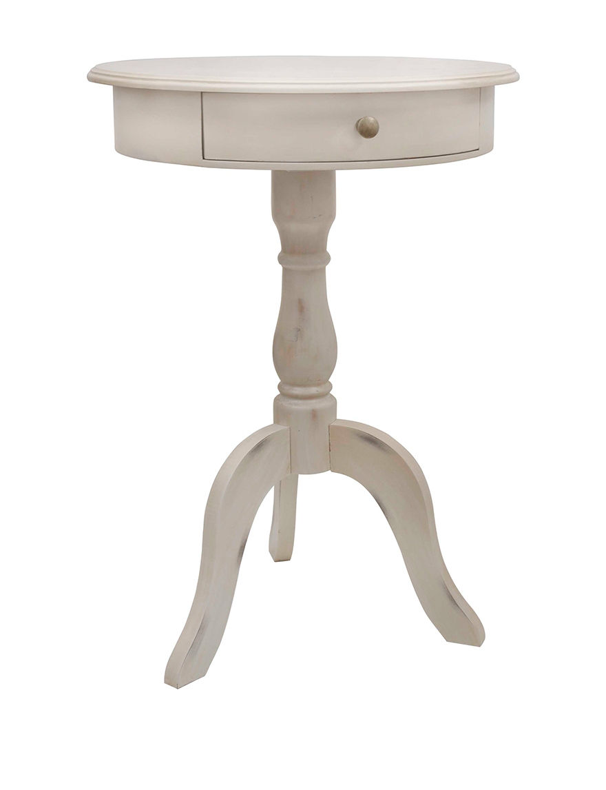 Decor Therapy White Accent & End Tables Living Room Furniture