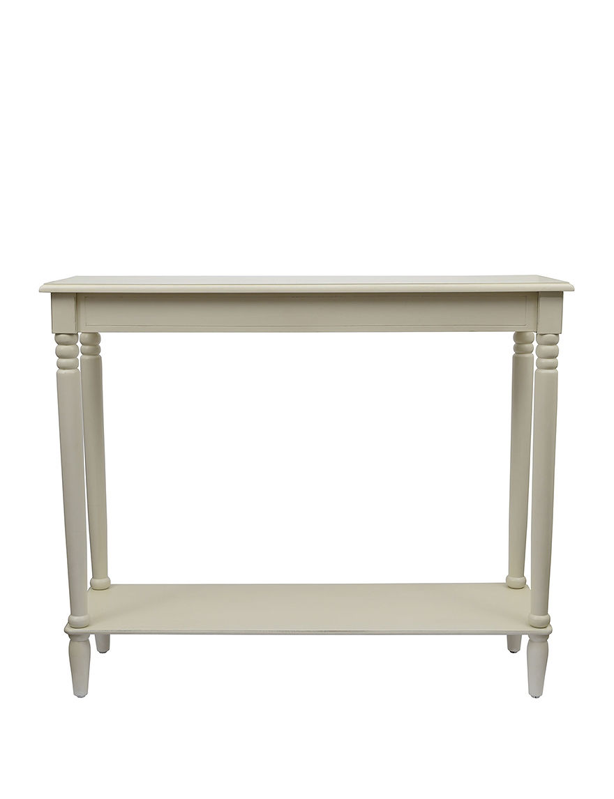 Decor Therapy Antique White Accent & End Tables Living Room Furniture