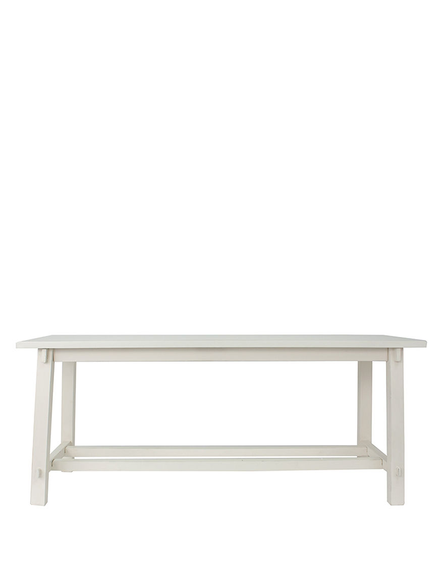 Decor Therapy White Ottomans & Benches Living Room Furniture