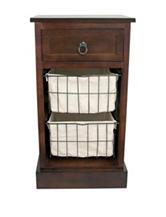 Decor Therapy 3 Drawer Walnut Storage Table