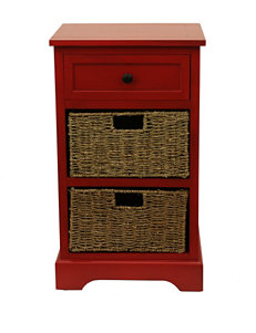 Decor Therapy Red Night Stands Living Room Furniture