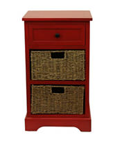 Decor Therapy Antique Drawer & 2 Basket Chest