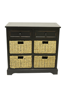 Decor Therapy Black Dressers & Chests Night Stands Living Room Furniture