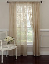 Laura Ashley 2-pc. Taupe Frosting Curtain Panel Set