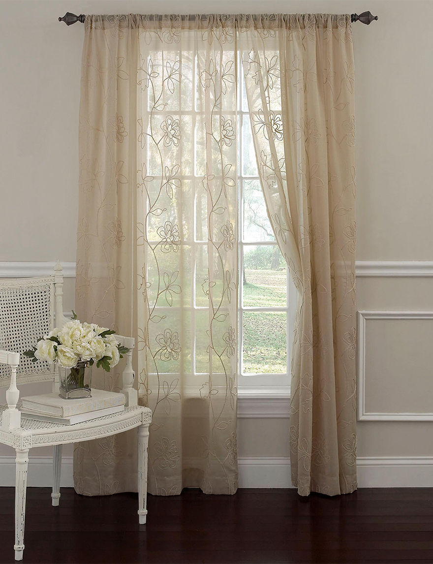 Laura Ashley Taupe Curtains & Drapes Window Treatments