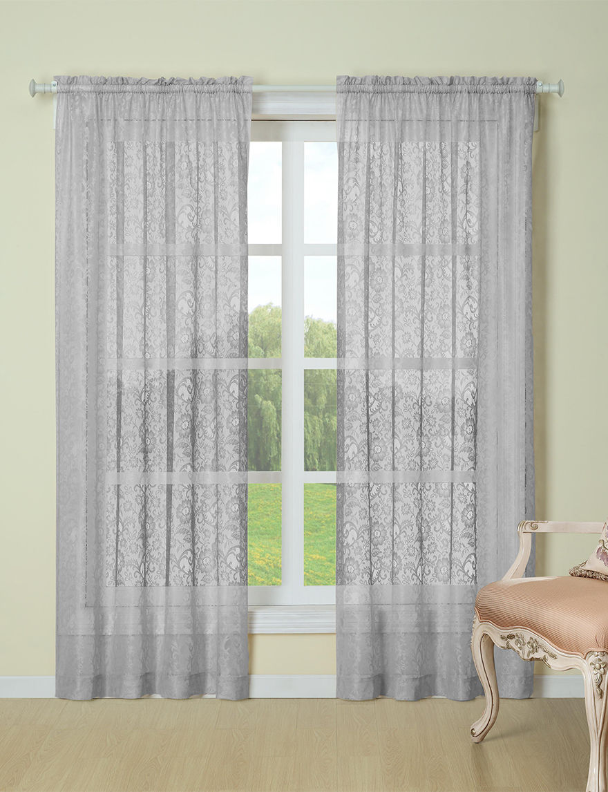 Laura Ashley Grey Curtains & Drapes Window Treatments