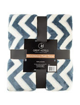 Great Hotels Collection Chevron Print Throw