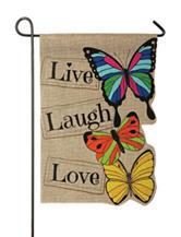 Evergreen Live Laugh Love Flag