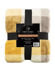 Great Hotels Collection Yellow Blankets & Throws