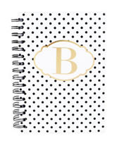 Tri Coastal Black & Gold Spiral Notebook
