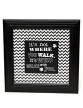 Tri Coastal Who Walks With You Wall Decor