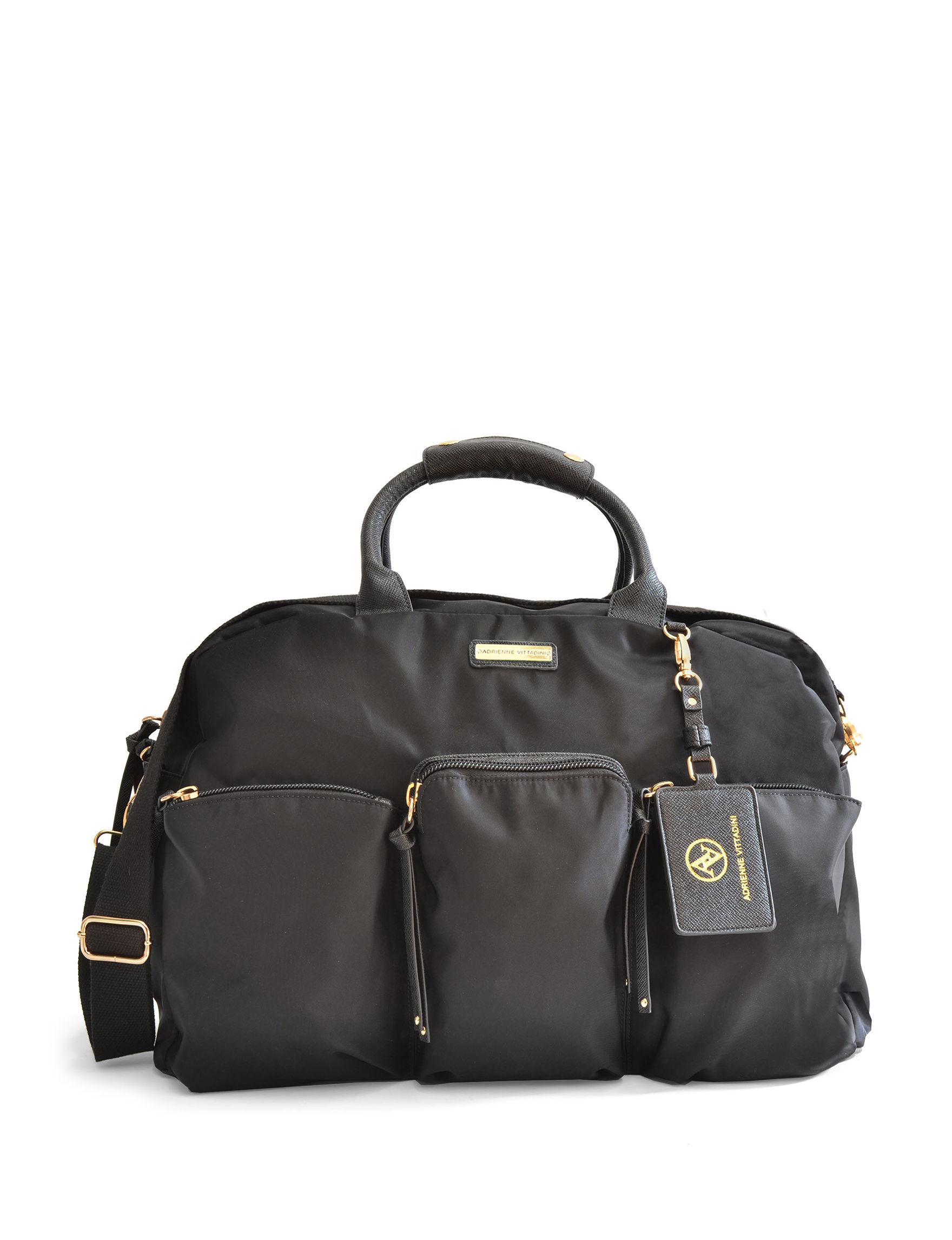 Adrienne Vittadini Black Duffle Bags