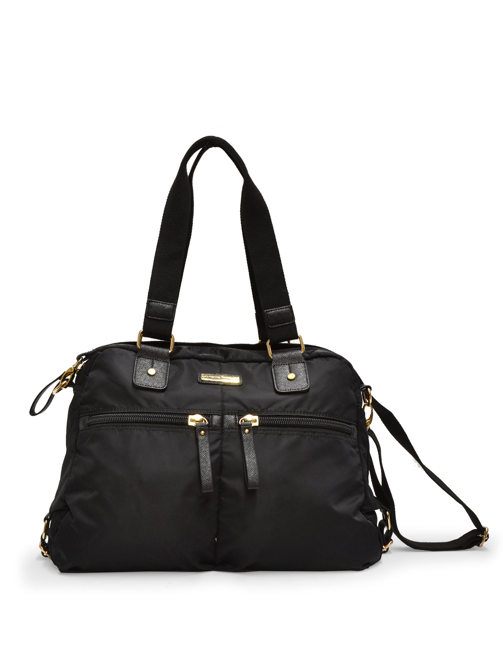 Adrienne Vittadini Black Travel Totes
