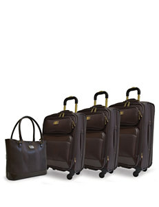 Adrienne Vittadini Chocolate Luggage Sets