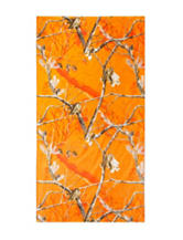 Realtree® Blaze Orange Camo Print Beach Towel