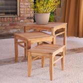 Southern Enterprises 3-pc. Teak Nesting Table Set