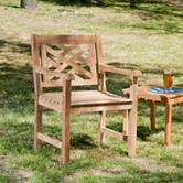 Southern Enterprises Light Brown Arm Chair