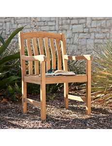 Southern Enterprises Gentry Teak Arm Chair