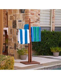Southern Enterprises Hardwood Towel Rack - Oiled Finish