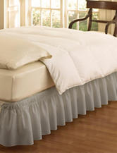 Ellery Solid Color Grey EasyFit™ Wrap Around Ruffle Bed Skirt