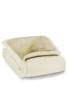 ComfortTech Ivory Blankets & Throws