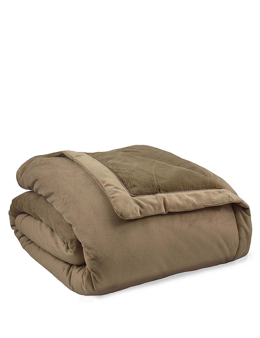 ComfortTech Taupe Blankets & Throws