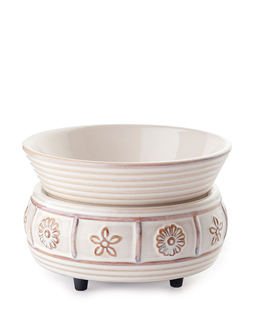 Candle Warmers Cream Candles & Candle Holders