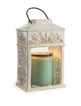 Candle Warmers Fleur de Lis Ceramic Candle Warmer Lantern