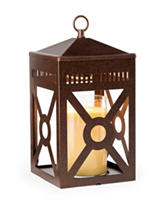 Candle Warmers Rustic Brown Mission Candle Warmer Lantern