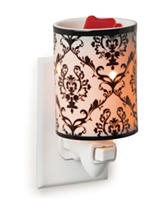 Candle Warmers Damask Porcelain Pluggable Fragrance Warmer