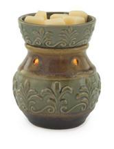 Candle Warmers Green Fleur de Lis Illumination Fragrance Warmer