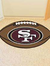 San Francisco 49ers Football Mat