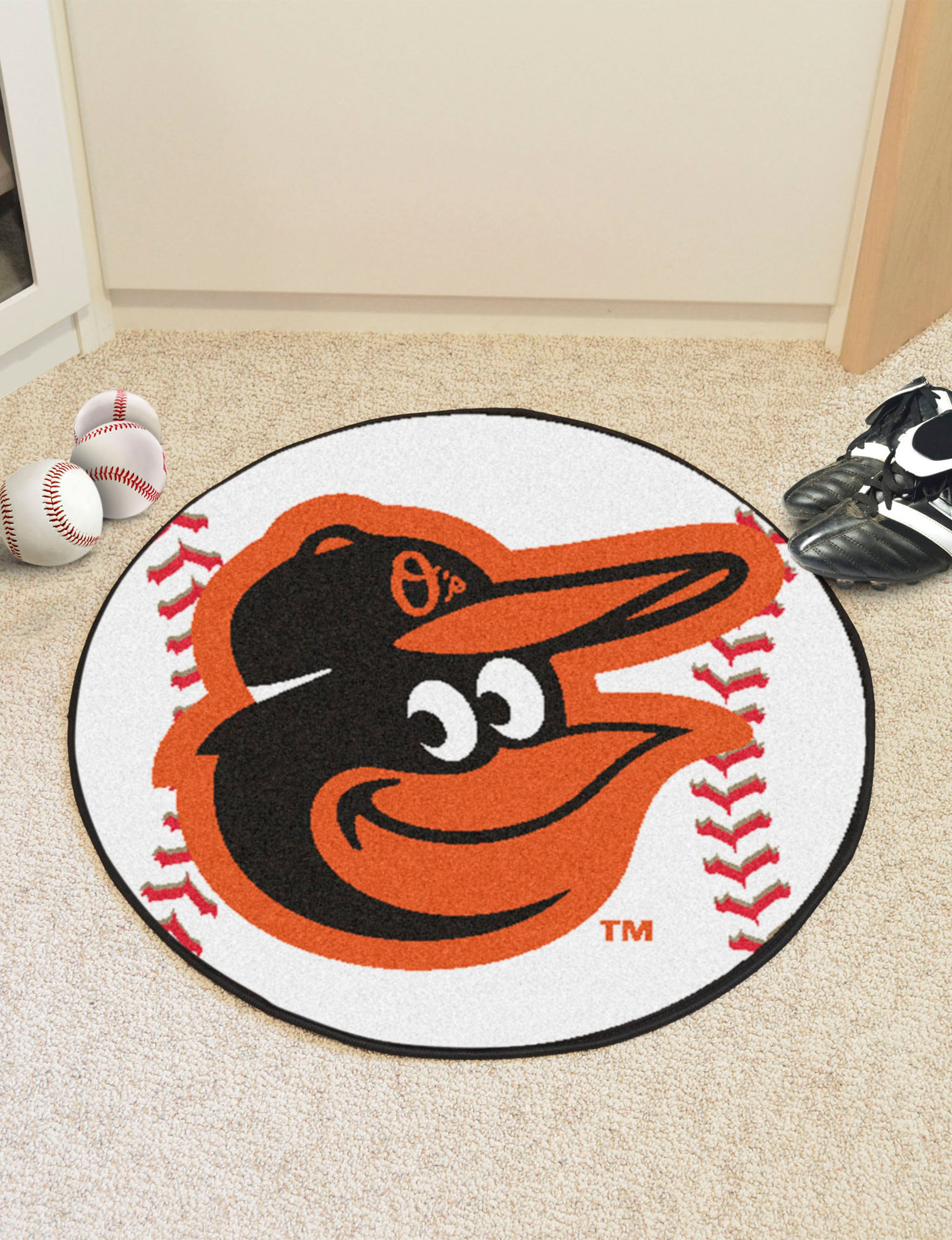 Fanmats Orange Accent Rugs Bath Rugs & Mats MLB