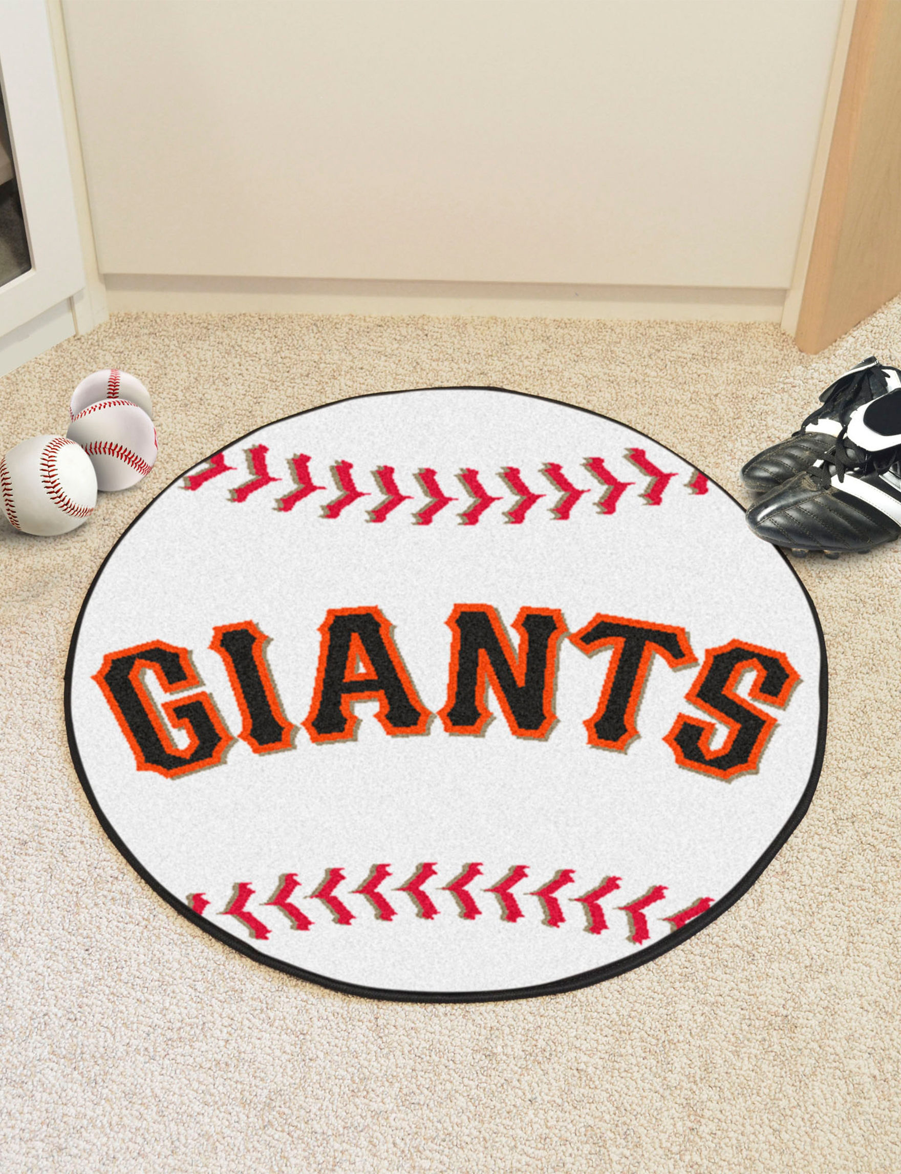 Fanmats Orange Accent Rugs Area Rugs Outdoor Rugs & Doormats MLB Rugs