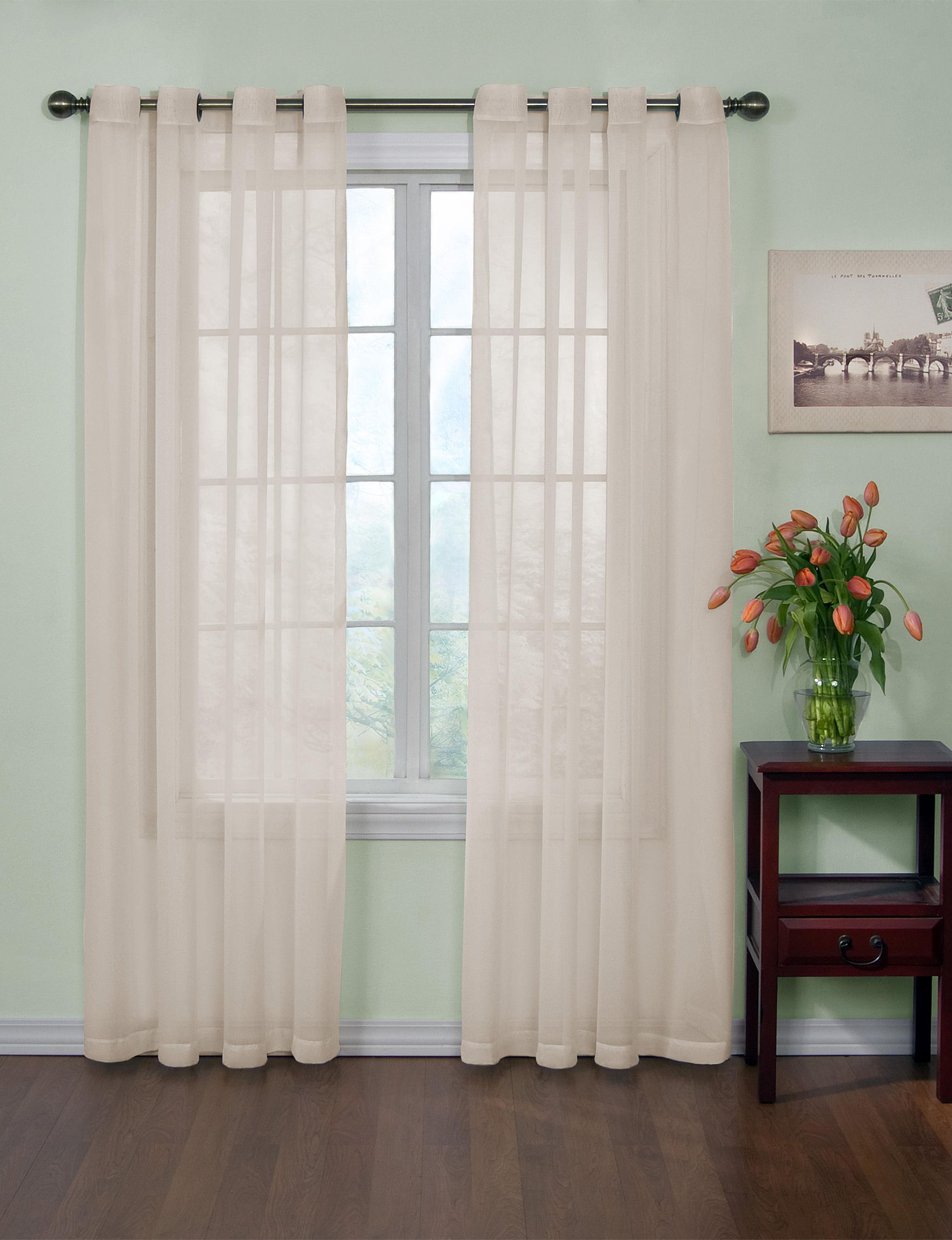 Curtain Fresh Ivory Window Treatments