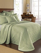 Historic Charleston Collection Sage King Charles Matelasse Coverlet