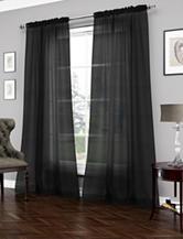 Ellery Vue Signature Carrington Sheer Black Curtain Panel