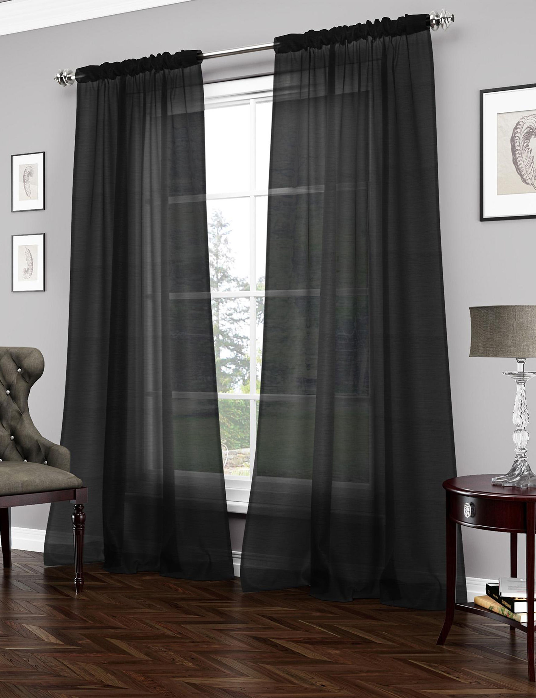 vue signature carrington sheer black curtain panel stage stores