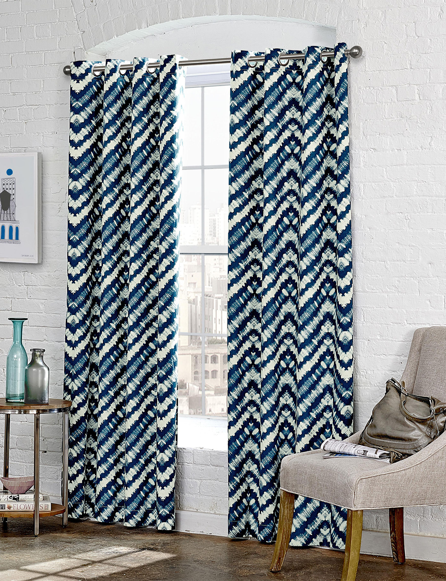 Ellery Indigo Window Treatments