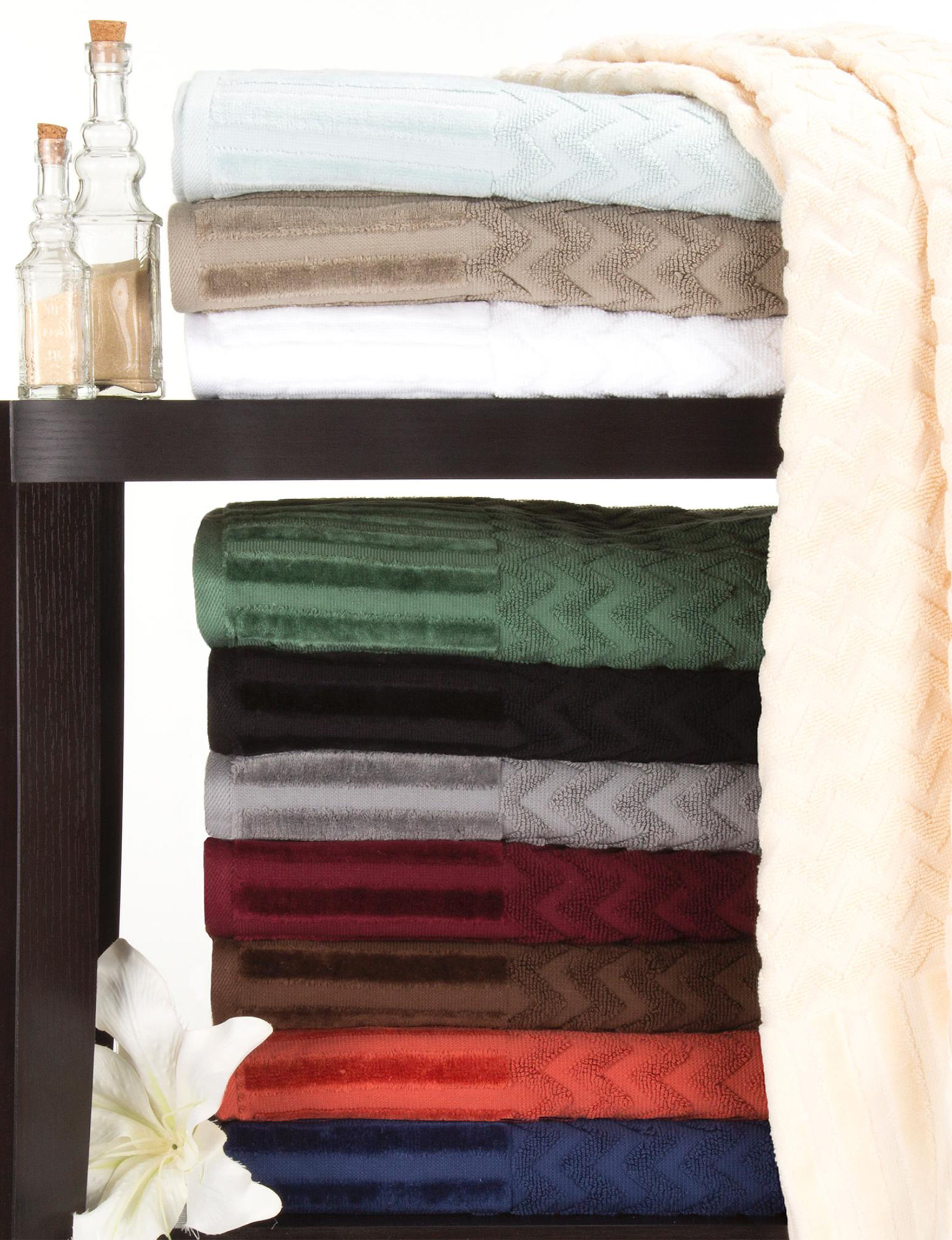 Lavish Home Brick Bath Towels Towels