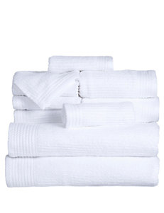 Lavish Home White Bath Towels Towel Sets Towels