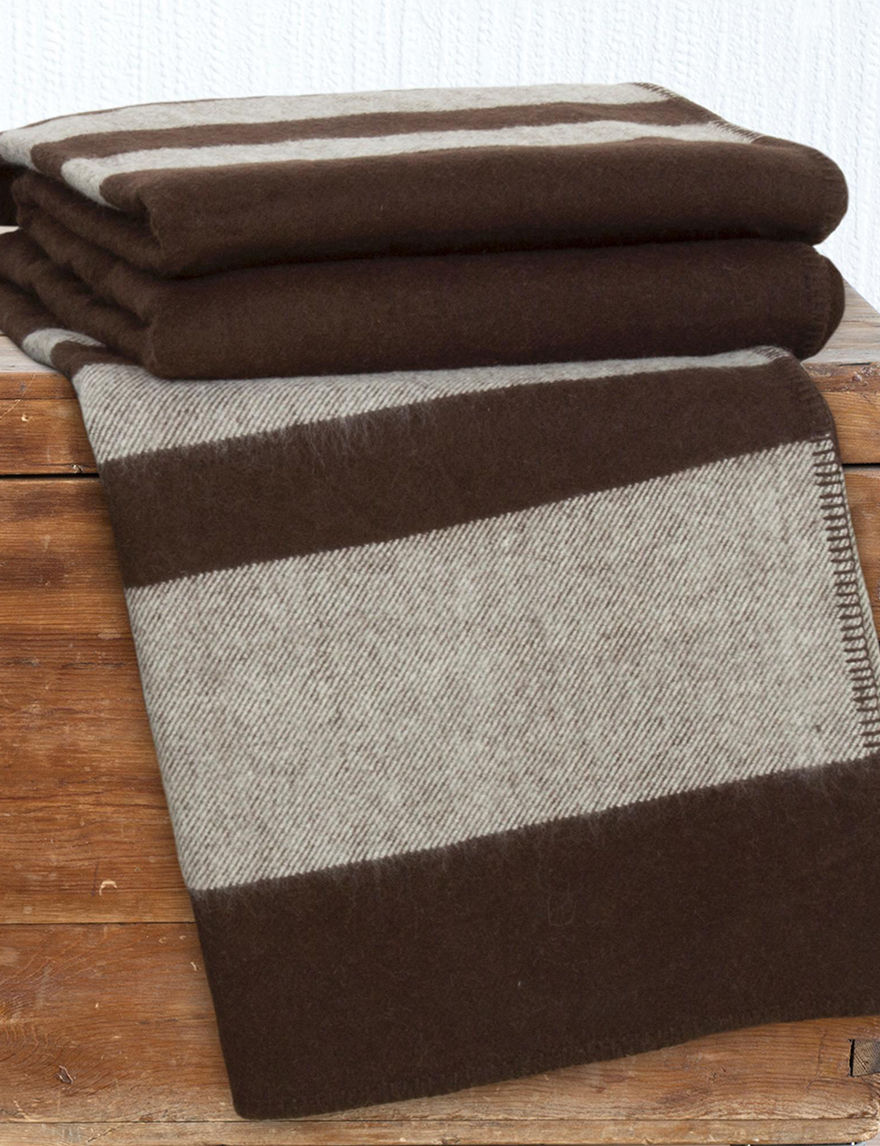 Lavish Home Dark Brown Blankets & Throws