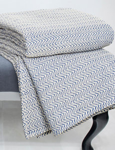 Lavish Home Blue Blankets & Throws